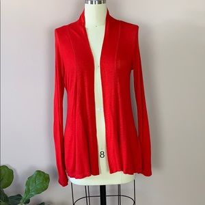 Bobeau Red Cardigan Size Small